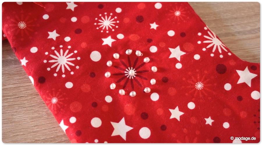 nähblog modage  weihnachtsstiefel im klassischen design