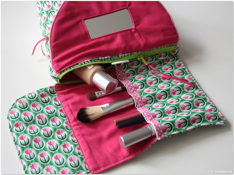 kosmetiktasche schnittmuster freebook