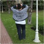 Blau-weiß gestreift: Meine neue Bolerojacke