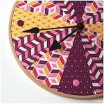 DIY: Stickrahmen Uhr im Patchwork-Look