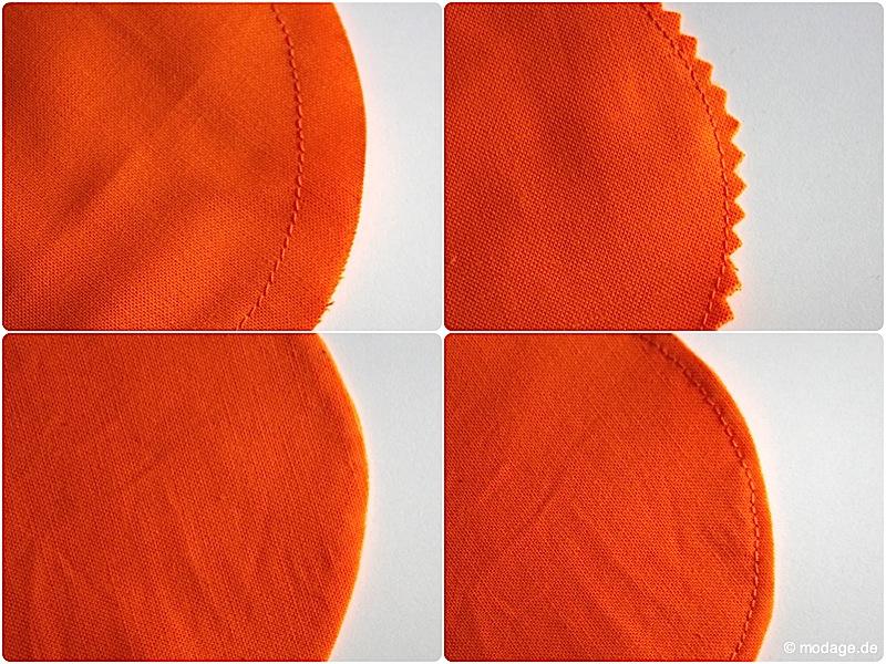 Einschneiden von Nahtzugaben Rundungen Kreise Ecken naehen modage 6