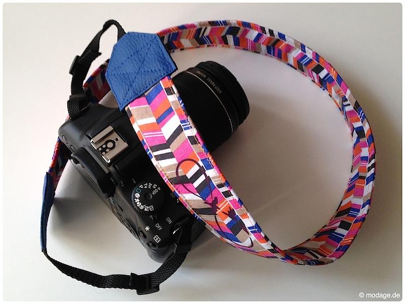 Kamerantasche Kameraband naehen Plotterliebe Plotterbild aufbuegeln modage 9