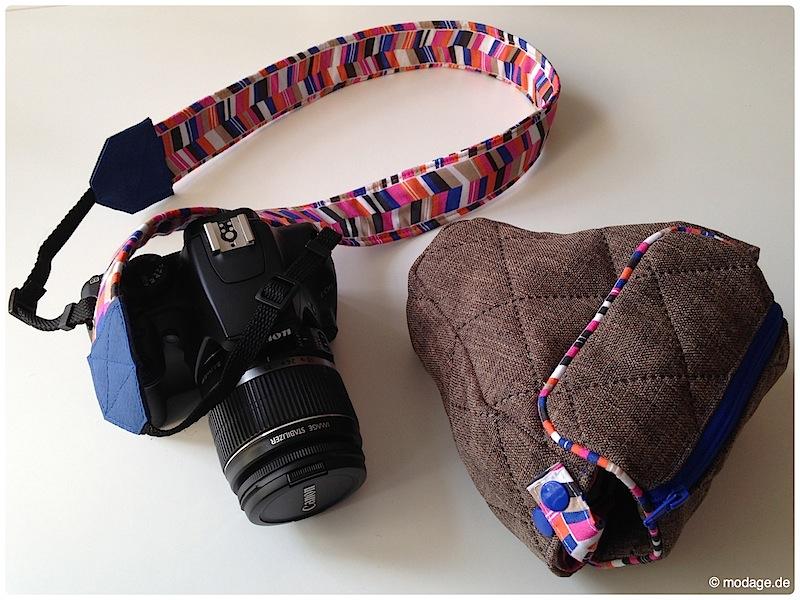 Kamerantasche Kameraband naehen modage 11