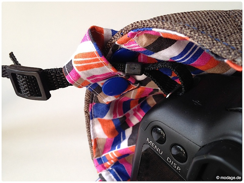 Kamerantasche Kameraband naehen modage 13