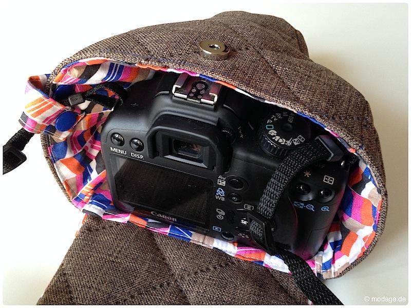 Kamerantasche Kameraband naehen modage 14