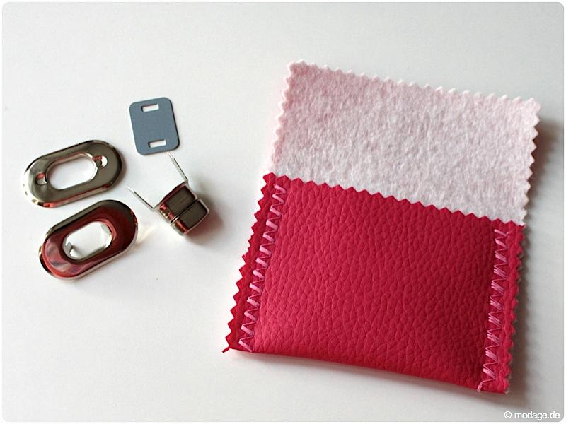 Steckschloss Magnetschloss Drehverschluss anbringen Taschenverschluss modage 1