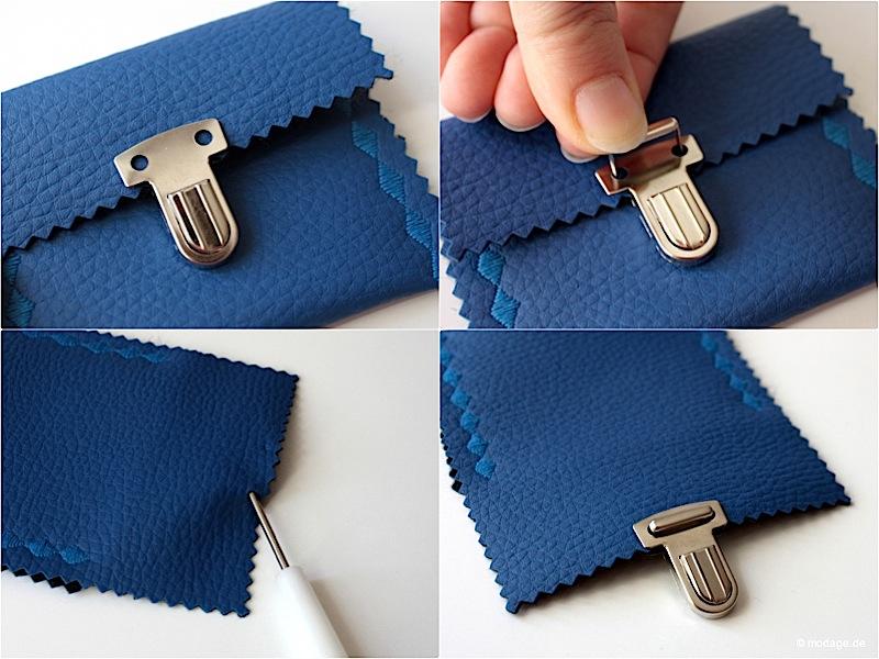 Steckschloss anbringen Magnetschloss Drehverschluss anbringen Taschenverschluss modage 3