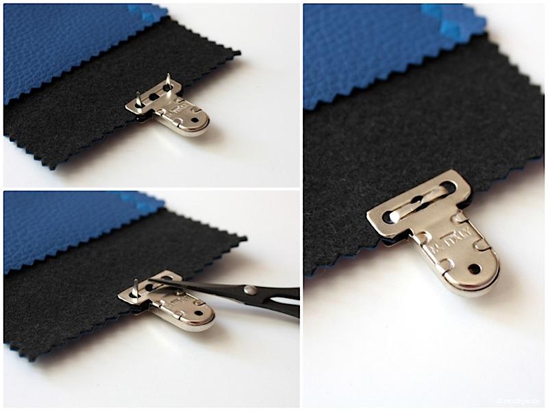 Steckschloss anbringen Magnetschloss Drehverschluss anbringen Taschenverschluss modage 4