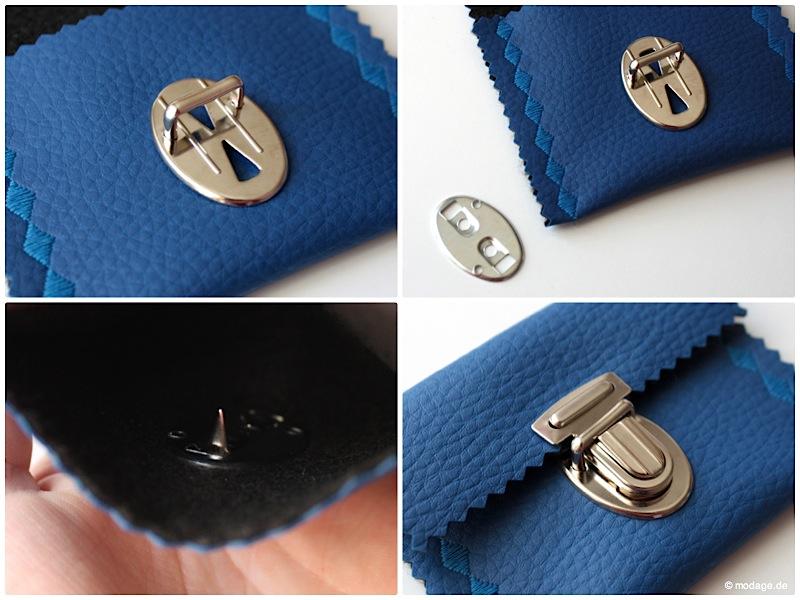 Steckschloss anbringen Magnetschloss Drehverschluss anbringen Taschenverschluss modage 6