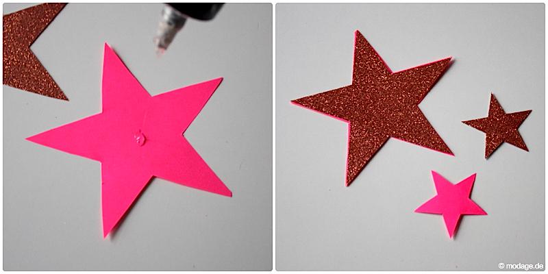 Sterne aus Papier basteln Sterne basteln Weihnachtssterne Plissee basteln Anleitung 4