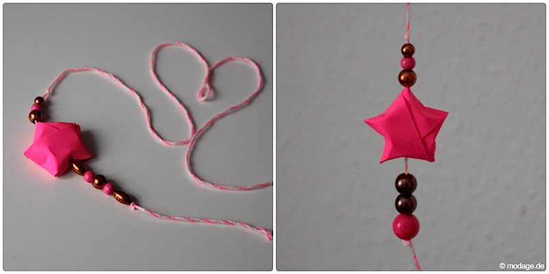 Sterne basteln Weihnachtssterne Plissee basteln Anleitung neonpink Garnundmehr 20
