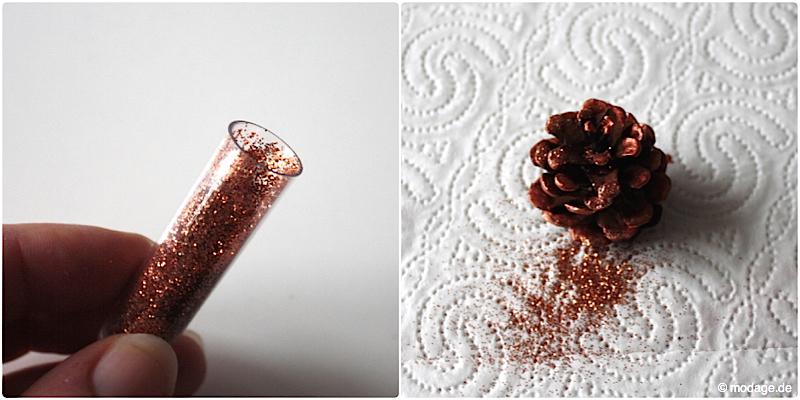 Tannenzapfen Kienapfel DIY basteln malen mit Naturmaterialien fur Weihnachten Kinder Dekoration selbermachen Weihnachtsbaumschmuck modage 4