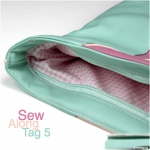 Clutch Emilia: Sew Along – Tag 5