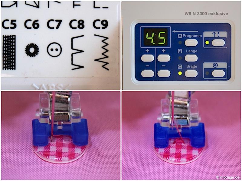 Nähfuß - kunde Automatische Knopflochschiene Knopfannähfuß Knopflochfuß W6 Naehmaschine 8