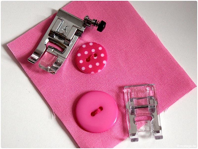 Nähfuß - kunde Knopf annaehen mit der Naehmaschine Knopflochschiene Knopfannähfuß Applikationsfuß 12