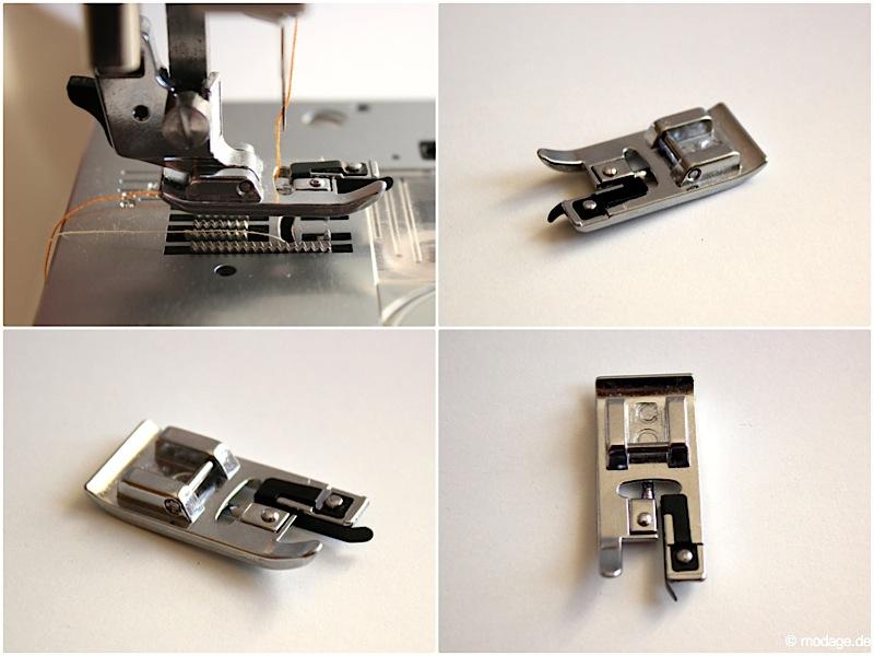 Nähfuß - Kunde Abkettelfuß Overlockfuß W6 Nähmaschine 13