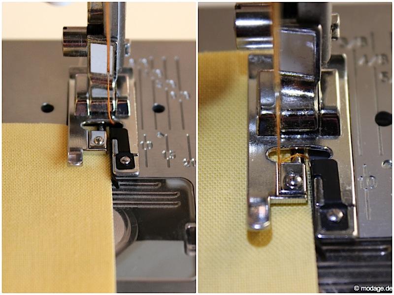Nähfuß - Kunde Abkettelfuß Overlockfuß W6 Nähmaschine 14