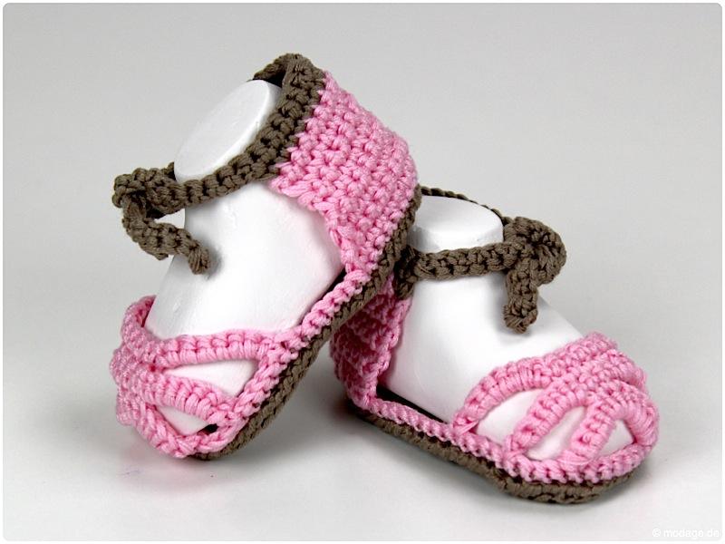 Nähblog Modage Gehäkelte Baby Sandalen