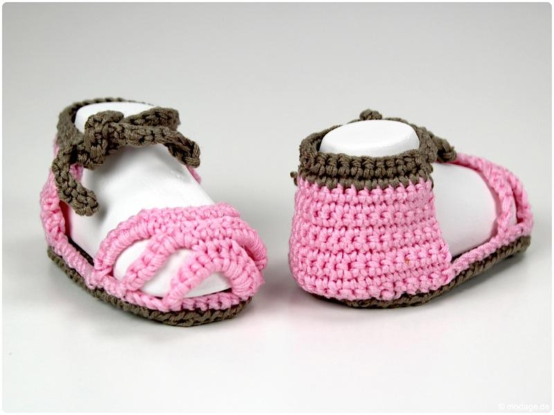 Gehaekelte Babyschuhe Baby-Sandale Mamigurumi modage.de 7