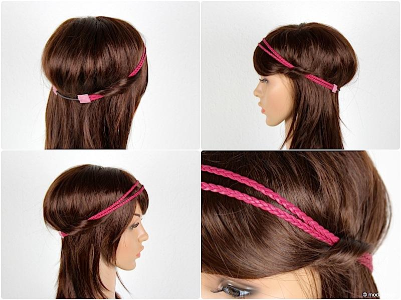 ca30007fdf888a Haarband naehen aus geflochten Lederbaender modage 10