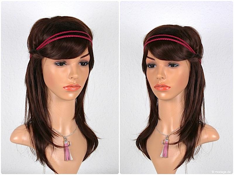 Haarband naehen aus geflochten Lederbaender modage 9