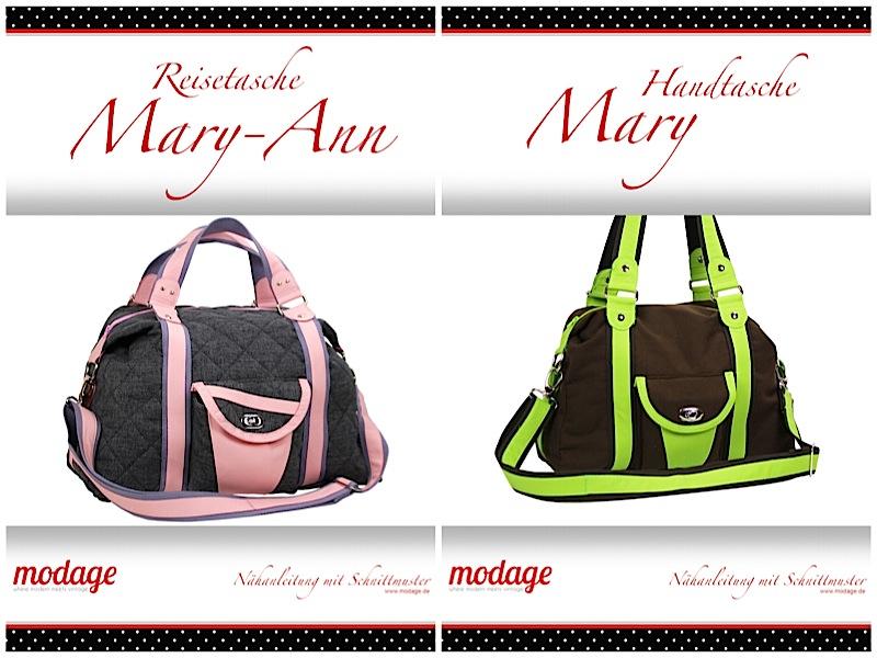 Reisetasche Mary-Ann Handtasche Mary Naehanleitung