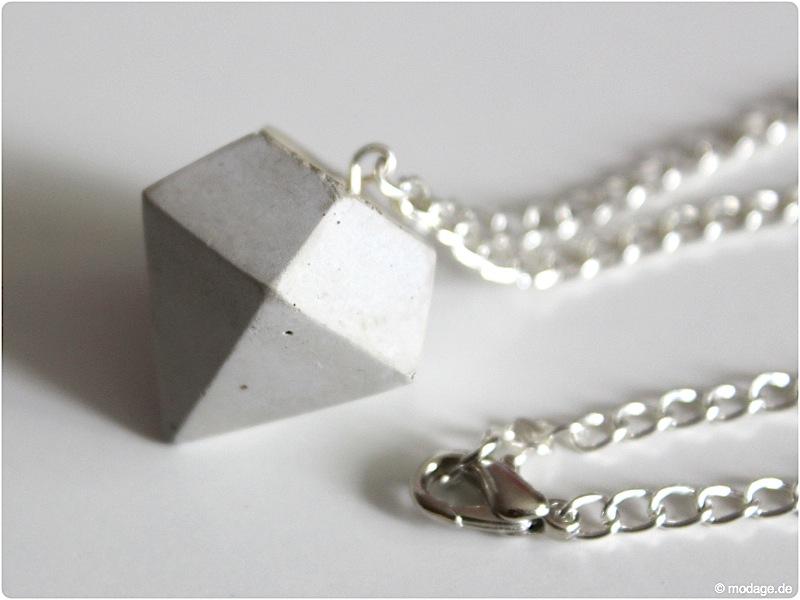 n hblog modage schmuckset diamanten aus beton. Black Bedroom Furniture Sets. Home Design Ideas