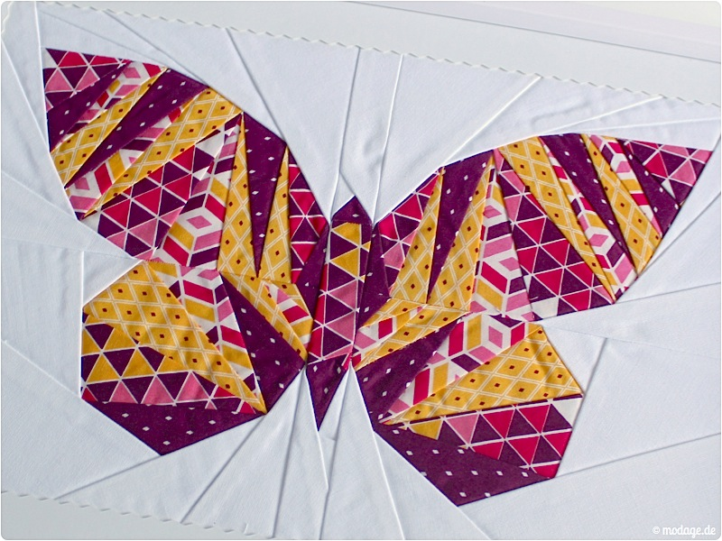 Patchwork_take wing mini_paperpiecing Schmetterling 4