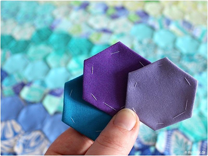Hexagon Quilt Naehanleitung modage.de 2