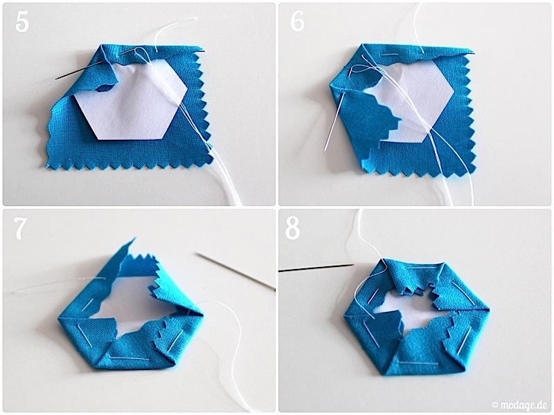 Hexagon Quilt Naehanleitung modage.de 4