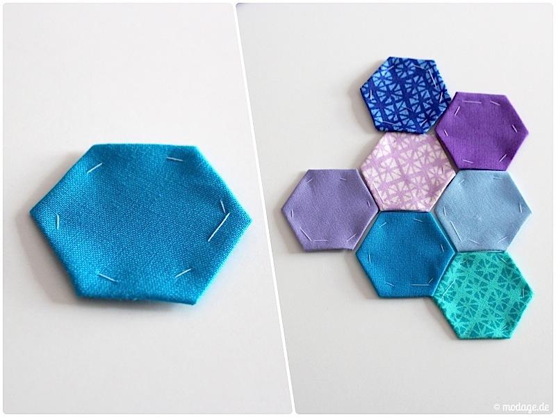 Hexagon Quilt Naehanleitung modage.de 5