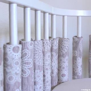 n hblog modage gitterstabpolster f rs babybett n hen. Black Bedroom Furniture Sets. Home Design Ideas