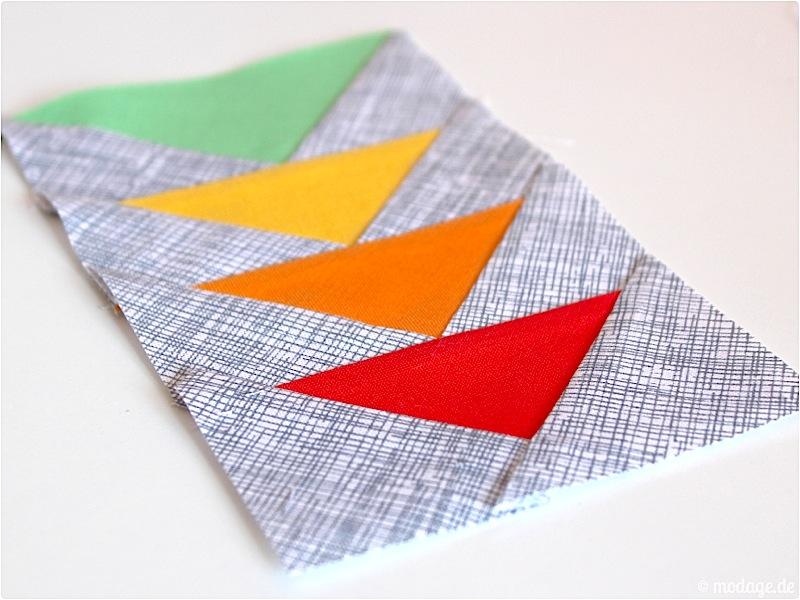 Paperpiecing Druckerhaube 7