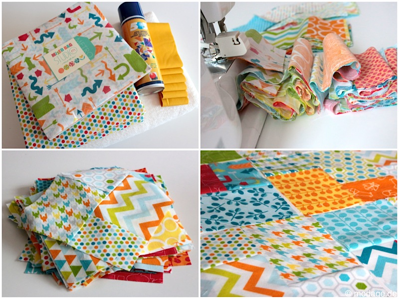 Layer Cake Patchworkdecke Makini