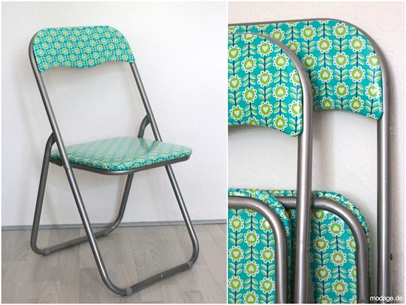 Upcycling Stuhl beziehen