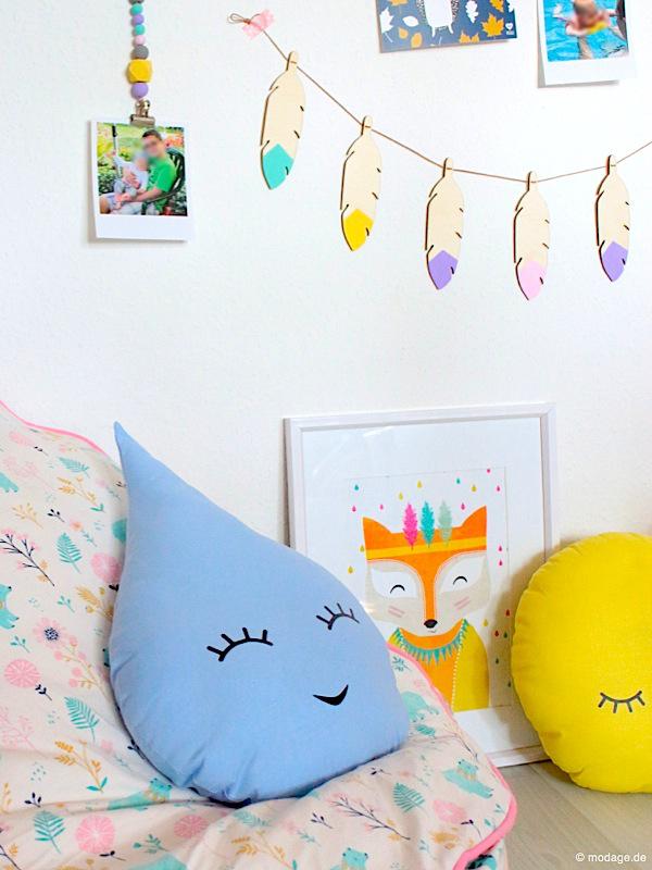 Farbenfrohe Kinderzimmer-Gestaltung selbstgemacht