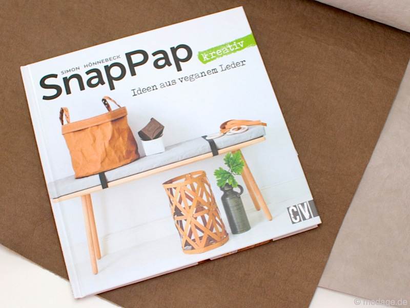Buch SnapPap kreativ Ideen aud veganem Leder