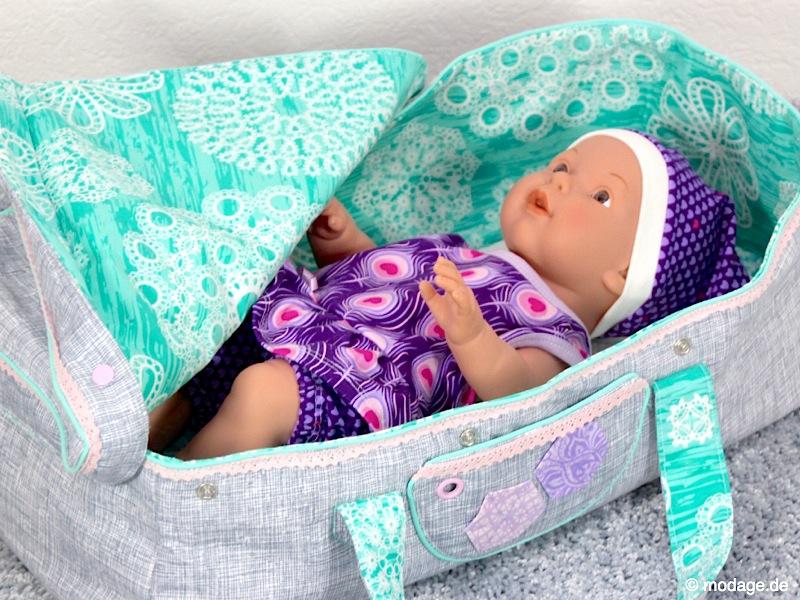 Nähblog Modage Puppentragetasche Ein Bettchen Für Die Baby Puppe