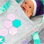 Puppentragetasche: Ein Bettchen für die Baby-Puppe
