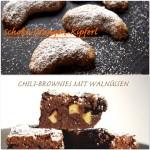 Weihnachtliches Backen mit LieseLotte&Friedrich: Chili Brownies mit Walnüssen & Schoko-Orangen-Kipferl