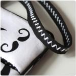Nähwettbewerb: Designbeispiel 'Moustache Clutch' mit Riemen