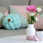 Kissenliebe: Knotenkissen und geometrische Kissenhüllen